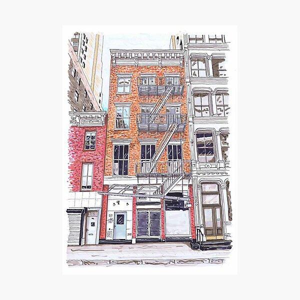 A little Life book - Lispenard Street - Hanya Yanagihara - New York Photographic Print