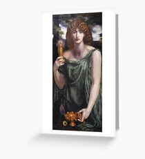 Dante Gabriel Rossetti - Mnemosyne, Portrait Of A Woman Greeting Card