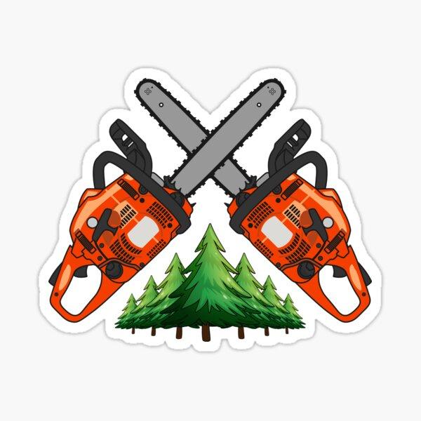 Chainsaw Forest Sticker