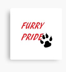 FURRY PRIDE Canvas Print