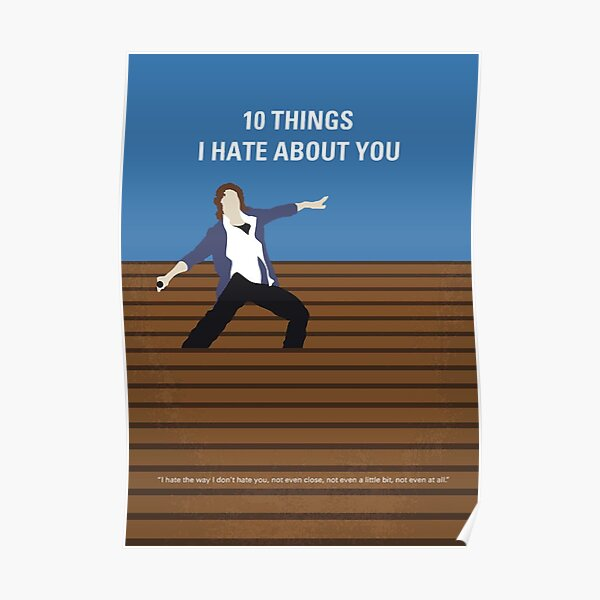 10 Things I Hate About You Klassisches 90s Film Poster