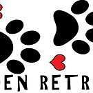 DOG PAWS LOVE GOLDEN RETRIEVER DOG PAW I LOVE MY DOG PET PETS PUPPY STICKER STICKERS DECAL DECALS by MyHandmadeSigns