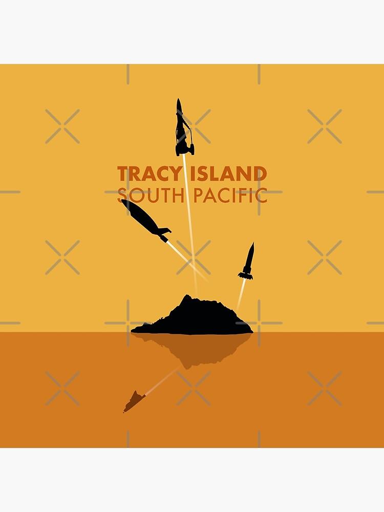 Tracy Island 'Thunderbirds' Art - Sunset Colour Scheme by PilgrimageShop