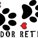 DOG PAWS LOVE LABRADOR RETRIEVER DOG PAW I LOVE MY DOG PET PETS PUPPY STICKER STICKERS DECAL DECALS by MyHandmadeSigns