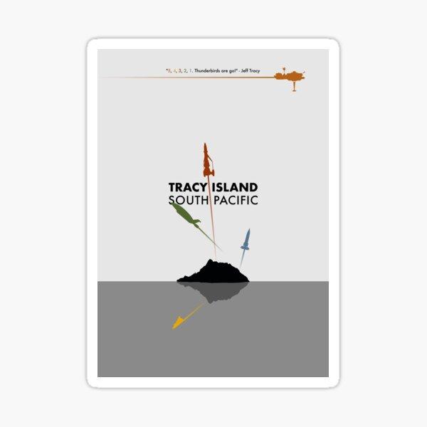 Tracy Island 'Thunderbirds' Art - Multicoloured Sticker