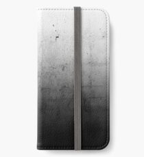 Black Ombre on Concrete Texture iPhone Wallet/Case/Skin