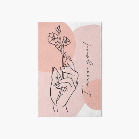 I miss you Flower Galeriedruck