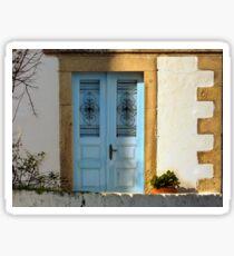 Doors in Patmos Greece Sticker