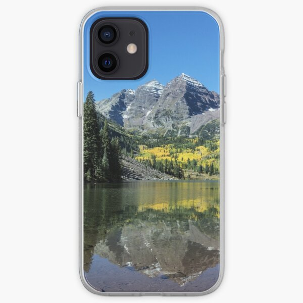 Autumnal view of Rocky Mountain Peaks iPhone Soft Case