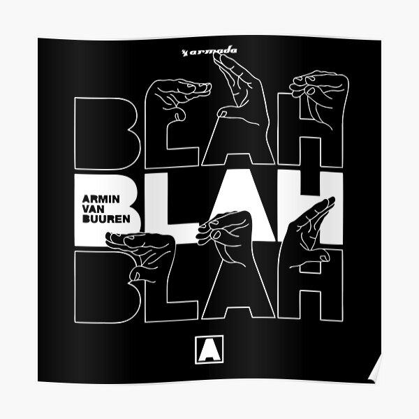 BEST SELLER - blah blah blah armin van buuren Merchandise Poster