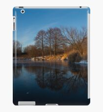 Blue Serenity - Early Morning at a Little Pond off Lake Ontario in Toronto iPad Case/Skin