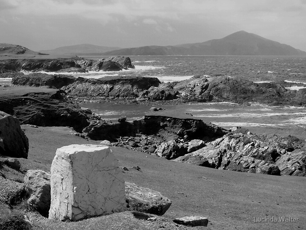 Rugged Coast ~ Black & White by Lucinda Walter