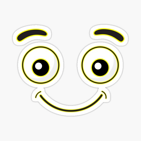 Funny face Be happy Sticker