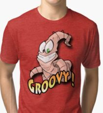 Groovy Worm  Tri-blend T-Shirt