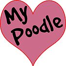 LOVE DOGS POODLE HEART DOG POODLES DECAL by MyHandmadeSigns