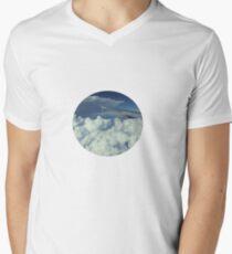 Traveling in a Plane Men's V-Neck T-Shirt