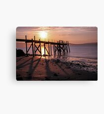 Pier at Holywood, Belfast Lough Canvas Print