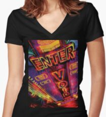 Enter the void Women's Fitted V-Neck T-Shirt