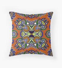 Boho Oriental Floral Pattern Throw Pillow