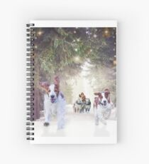 Welshies helping Santa deliver his pressies on time! Spiral Notebook