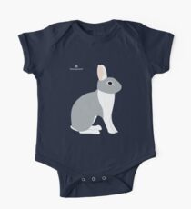Lilac White Eared Rabbit One Piece - Short Sleeve