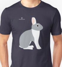 Lilac White Eared Rabbit T-Shirt