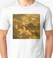 Gold Fall - Oak Leaves Floating in a Fountain T-Shirt