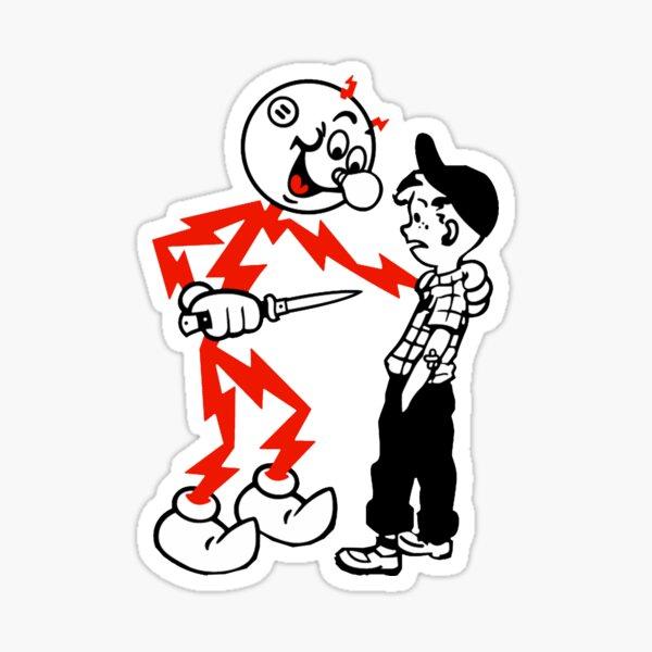 Reddy Kilowatt danger Sticker