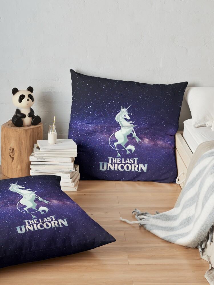 Alternate view of The Last Unicorn Galaxy Floor Pillow