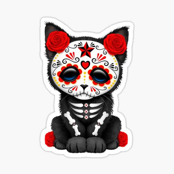 Cute PINK PIRATE KITTY Cat w// Eye Patch /& CROSSBONES RARE Sticker CARTOON Decal