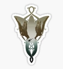 Evenstar im Argonath 2.0 Sticker