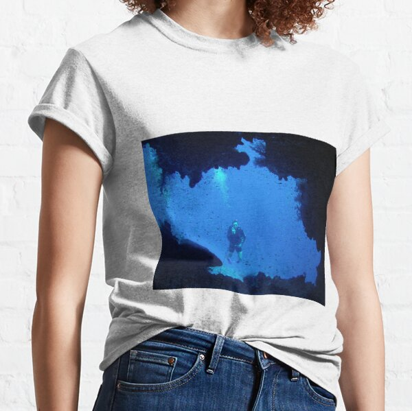 Cave in the deep water diving Classic T-Shirt