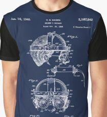 Antique Welders Goggles blueprint drawing Graphic T-Shirt