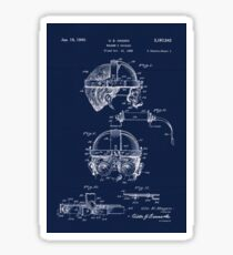 Antique Welders Goggles blueprint drawing Sticker