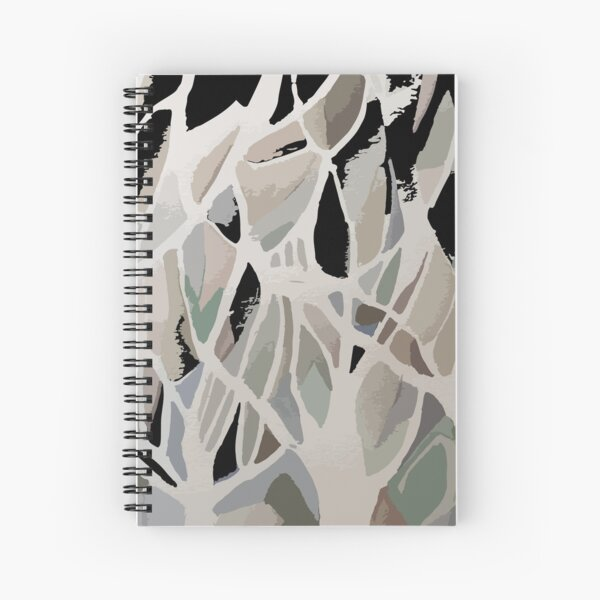 Abstract modern decorative forest Spiral Notebook