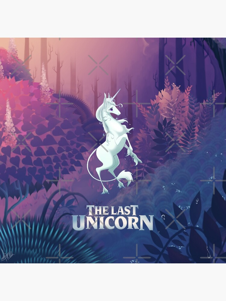 The Last Unicorn Purple Forest by 0Robyn0