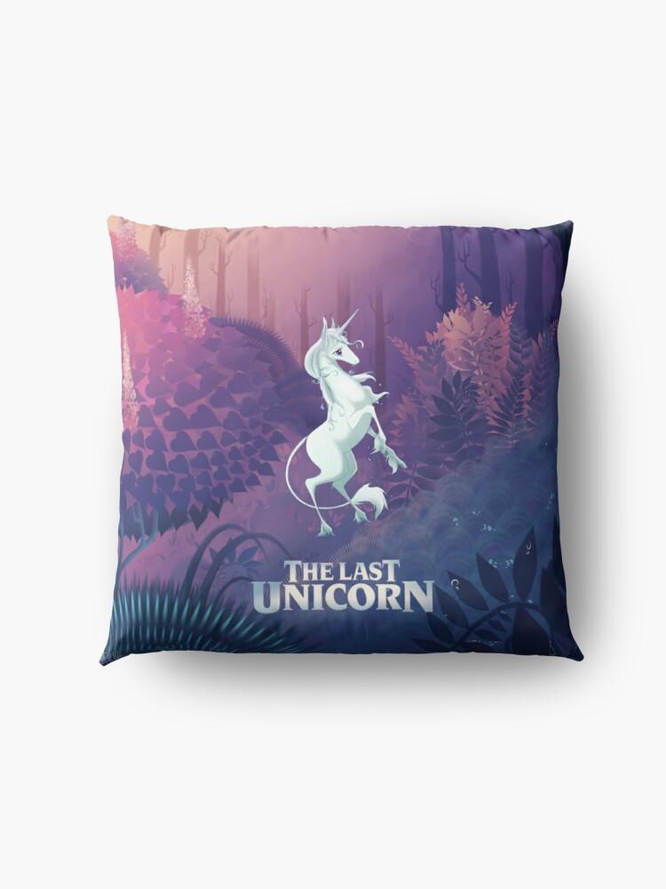 Alternate view of The Last Unicorn Purple Forest Floor Pillow