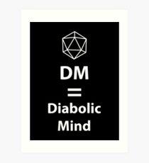 Lámina artística Dungeon Master = Diabolic Mind