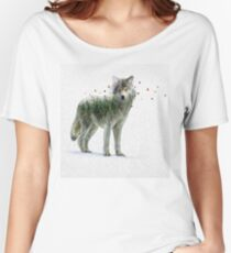 Wild I Shall Stay | Wolf Women's Relaxed Fit T-Shirt