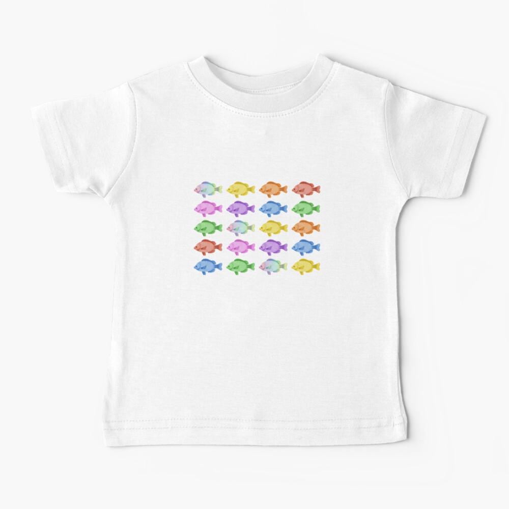 Peces multicolores Camiseta para bebés