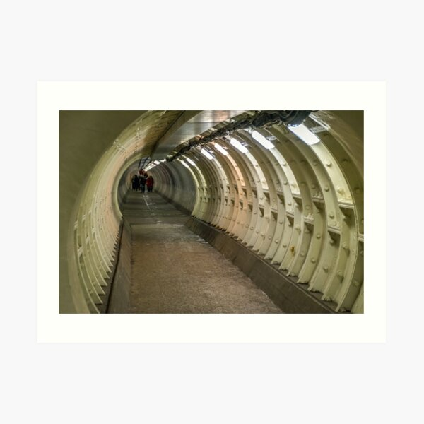 Greenwich Foot Tunnel, London Art Print