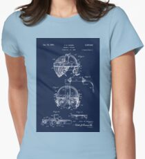Antique Welders Goggles blueprint drawing Womens Fitted T-Shirt