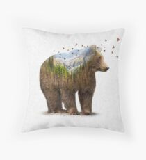 Wild I Shall Stay | Bear Throw Pillow