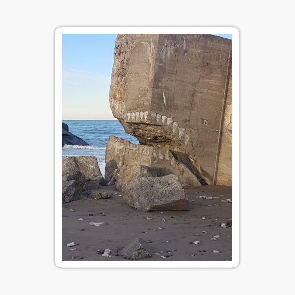 bunker remains  Jaws WW 2 Denmark Sticker