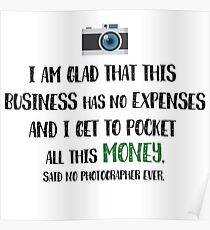 Photographer Funny Fact Poster