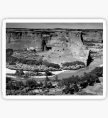 Water in Canyon De Chelly ~ Black & White Sticker