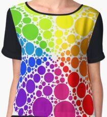 Color wheel palette or color circle isolated. The physical representation of color transitions and HSB. Women's Chiffon Top