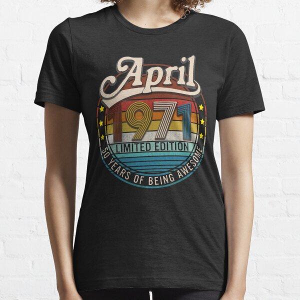 Vintage abril de 1971, 50.o regalo de cumpleaños Camiseta esencial