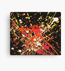 Pop- Warm (Abstract, 3 of 6) Canvas Print