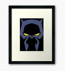 Animated Cat-lover Superhero (Negative) Framed Print